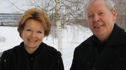 Påtroppande styreleiar Rita Eckbo og ordførar Arne Storhaug Foto: Hilde K. Pedersen