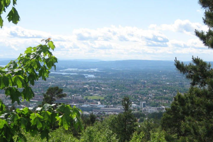 Nydelig utsikt over Oslo sett fra Grefsenkollen. Foto: Christian Prestegård