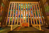 Båtsfjord kirkes glassmaleri