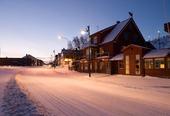 Båtsfjord sentrum i vinterdrakt