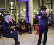 Ola Mosafinn minnekonsert Voss spelemannslag hardingfele konsert biblioteket kulturhus Knut Hamre, Øystein Velure og Leif Rygg