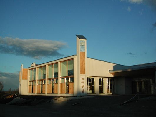 Fasadebilde av Østre Toten folkebibliotek