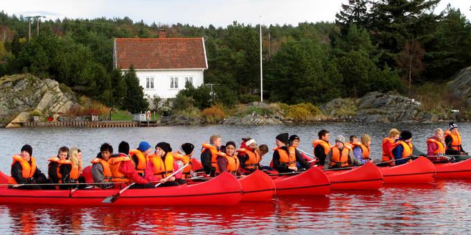 Klassetur på Heia Haraldvigen