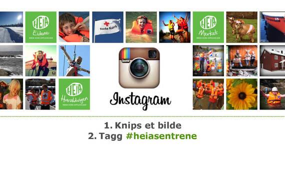 Tagg et bilde med heiasentrene på Instagram og del det med oss