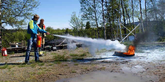 Bruk av brannslokkingsutstyr