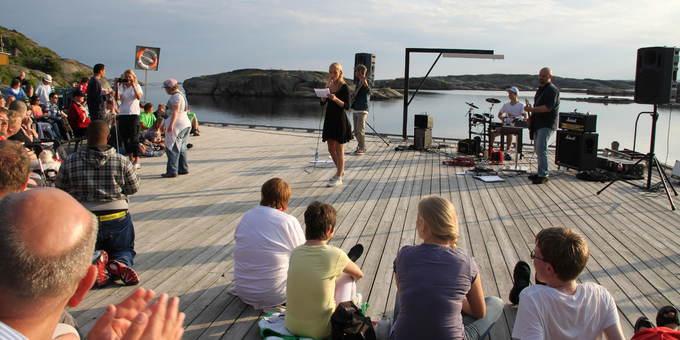 Konsert på brygga på Heia Eidene