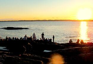 Solnedgang på Heia Haraldvigen