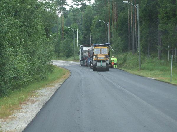 Asfaltlegging, Rømskog 2013