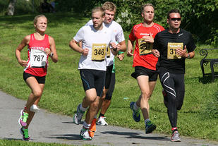 Rebecca Sem vinner 5km i Skagerakløpet i 2013. Foto: Turid Veggeland