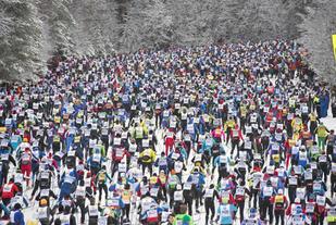 Starten på Vasaloppet i 2014.