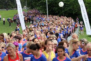 Klart for start på 10 km i Frognerparken i 2014. Foto: Heming Leira