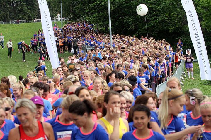 Klart for start på 10km i Frognerparken i 2014. Foto: Heming Leira