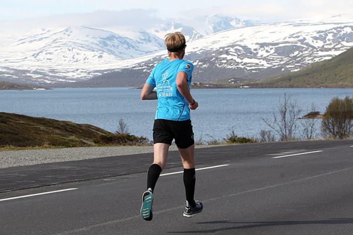Jimmy Vika under Fjellmaraton i fjor. Foto: Kjell Vigestad