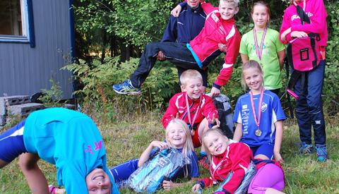 Noen av de yngste deltagerne