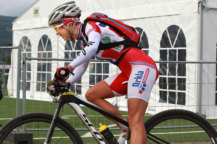 Borghild Løvset vant forårets Birkebeinerritt. (Foto: Kjell Vigestad)