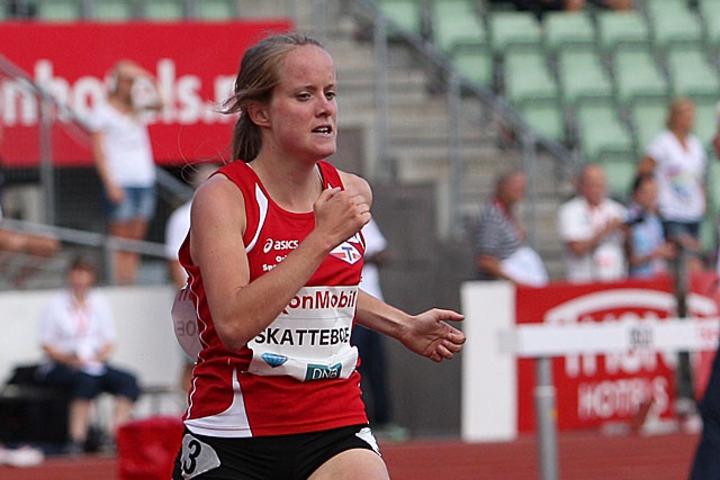Karoline Skatteboe i aksjon under Bislett Games. (Foto: Bjørn Johannessen)