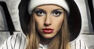 Fashion portrait of beautiful hip-hop woman
