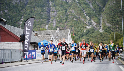 The start of Hardangervidda Marathon is in Eidfjord. Photo by Agurtxane Concellon