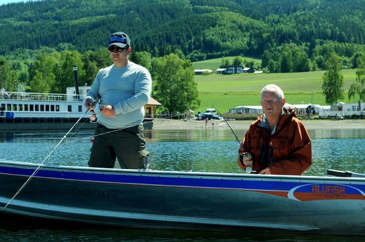 Fishing in the lake.