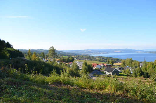Residential. Mjøsa in background.