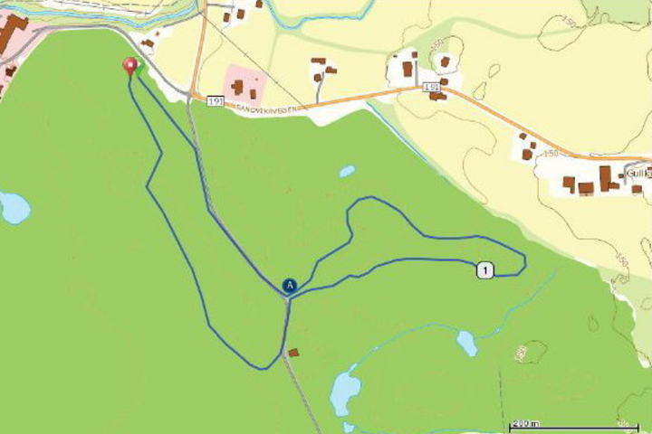 Kart over Sport1 og Vismastafetten 1+2 km_640x431