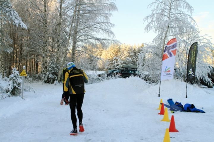 Fra fjorårets arrangement - en av arrangørklubbens løpere er inne for runding  (foto: Olav Engen).