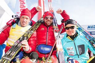 Aukland Gjerdalen og Pettersen tok de tre første plassene i fjorårets Marcialonga. Foto:Magnus Osth