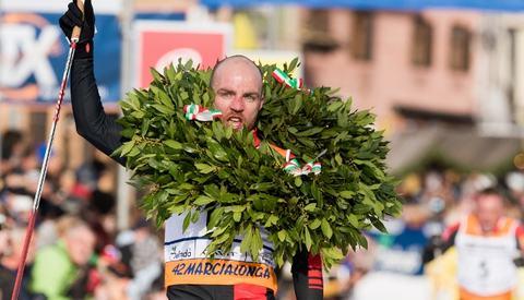 Tord Asle Gjerdalen vant Marcialonga som ifjor hvor bildet er fra. Foto:Magnus Osth