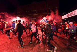 Fra starten i Winter Run Oslo 2015 (foto: Erling Pande Braathen).