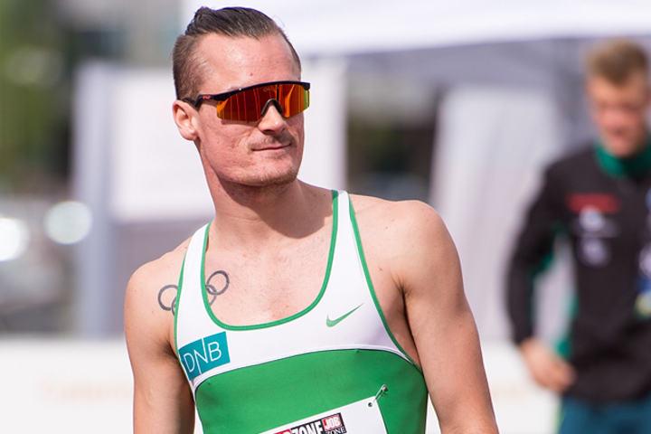 Henrik Ingebrigtsen løp sin neste raskeste 1500 m noensinne. (Arkivfoto: Erling Pande Braathen)