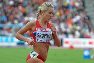 Karoline Bjerkeli Grøvdal viste god 1500 m-form da hun sesongåpna i USA. (Arkivfoto: Bjørn Johannessen)
