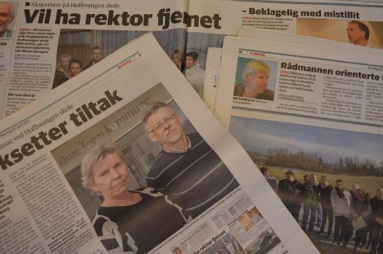 Oppslag i Oppland Arbeiderblad