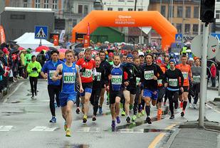 Start halvmaraton 2015 (foto: Arne Dag Myking).