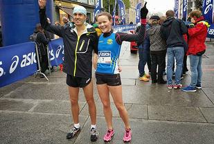 Roald Frøskeland og Yngvill Elvemo vant Sentrumssprinten.  Foto: Heming Leira