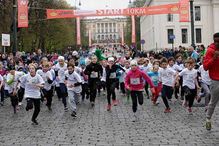 Start i Barneløpet. Foto: Per Inge Østmoen