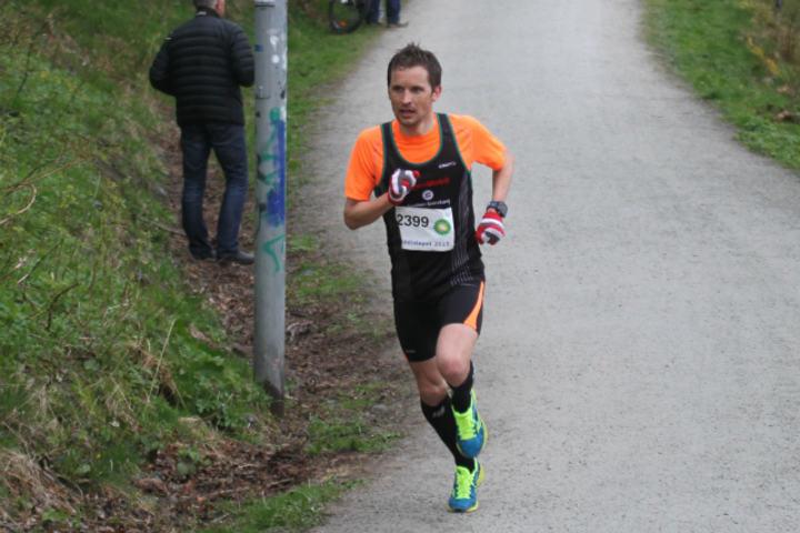 Bjørnar Ustad Kristensen nærmer seg mål. Foto: Lise Bentsen.