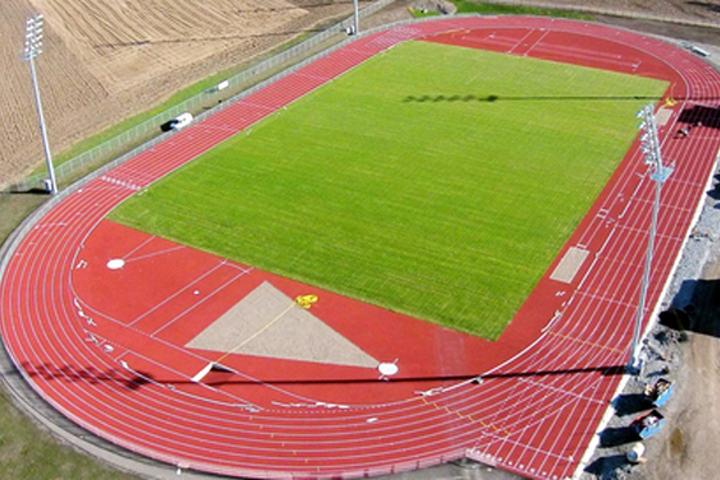 Nye Hamar Idrettspark på Børstad. (Foto: Hamar kommune)