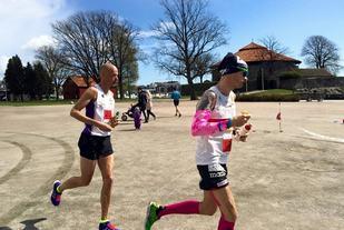 Erik Bergersen og Bjørn Tore Taranger under årets NM 100 km