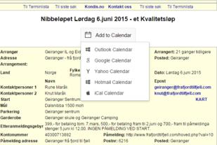 Lagg til arrangement fra Terminlista i din kalender