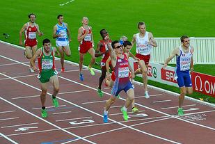 Ingebrigtsens gulløp på 1500m i EM 2012. Foto: Rolf Bøhn