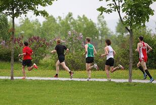 Selv om start og mål er flyttet innendørs, så er likevel Fornebuløpet først og fremst et løp i det grønne. (Foto: Kjell Vigestad)