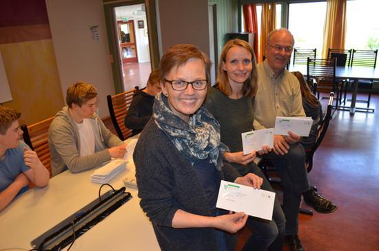 Fra venstre Kari Røssum, Guri Bråthen og Hans Seierstad
