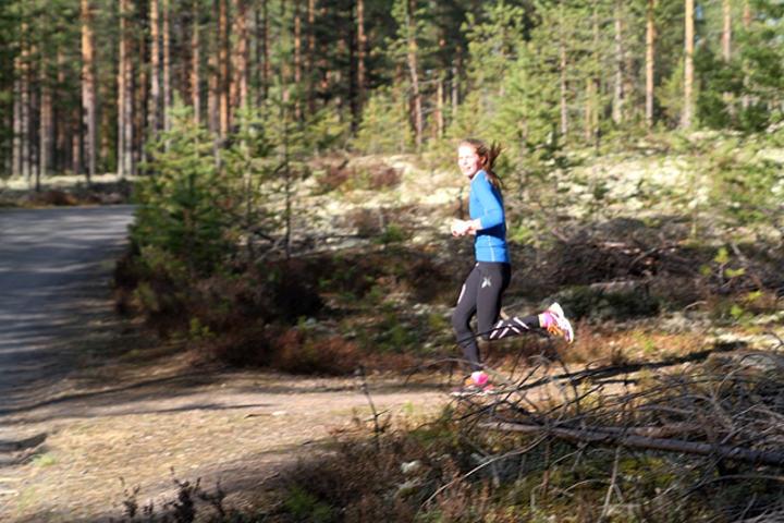 Aurora Ulsaker Bjørn i forrige ukes Gå-jogg i Elverum