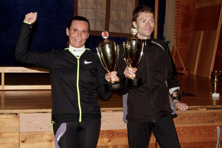 Kari-Anne Tryggestad Ryste og Kristian Nedregård vant dagens løp på Stette i Skodje/Haram kommune