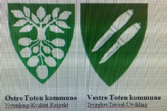 Kommunevåpnene til Østre og Vestre Toten