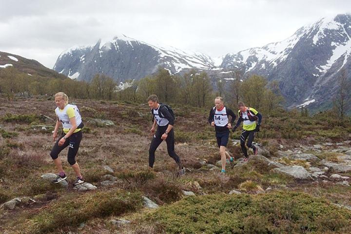 For sjuende gang: Solfjelløpet vart arrangert lørdag med 80 deltakarar. Foto: Arrangøren.