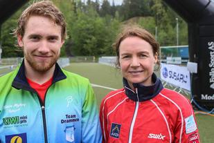 Vinnerne av Oppegårdmila 2015: Martin Kristiansen og Marianne Helgheim. Foto: Johnny Syversen