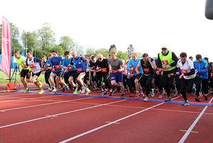 Fra starten av 5 km-løp 1. Fotograf : Arne Dag Myking