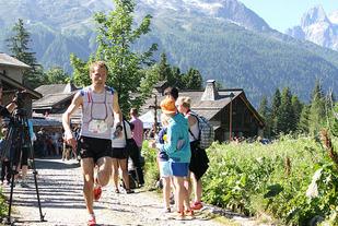 Thorbjørn Ludvigsen hadde ei imponerende helg i Chamonix - med tredjeplass på KM Vertical og sjetteplass på dagens maratonløp. (Foto: Runar Gilberg)
