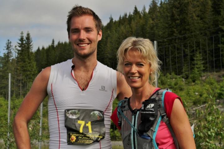Vinnerne Erik Sagvolden og Rita Nordsveen fotografert før start. De var jo favoritter.